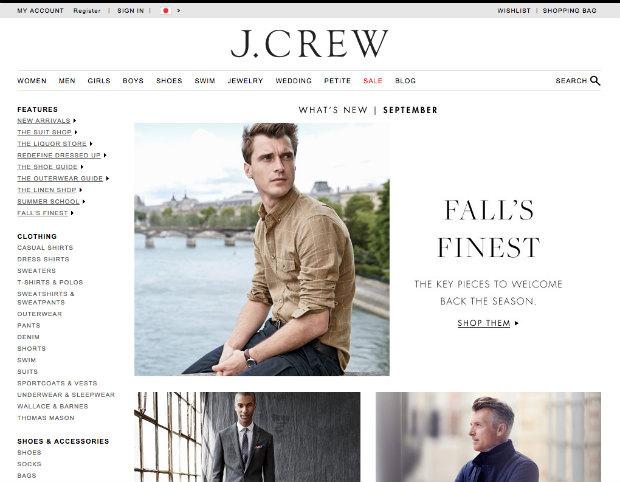 Jcrew公式サイトのメンズファッション